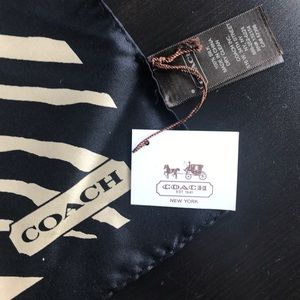 NWT Coach animal print silk scarf